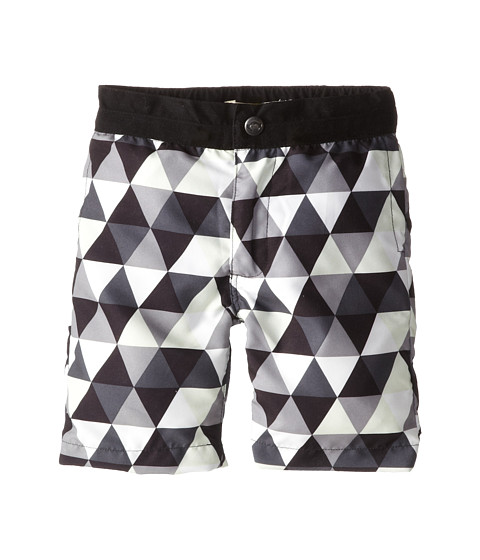 Appaman Kids - Riis Swim Trunks with Triangles (Toddler/Little Kids/Big Kids) (Black) Boy