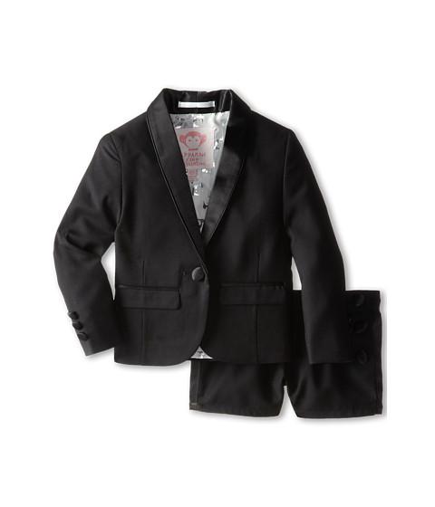 Appaman Kids - Peplum Jacket Tuxedo Short Set (Toddler/Little Kids/Big Kids) (Black) Girl