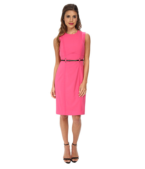 Calvin Klein - Sheath Dress Belted at Waist (Flamingo) Women