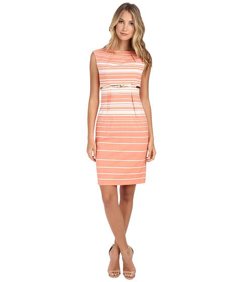 Calvin Klein - Empire Waist Sheath Dress (Ember/White) Women