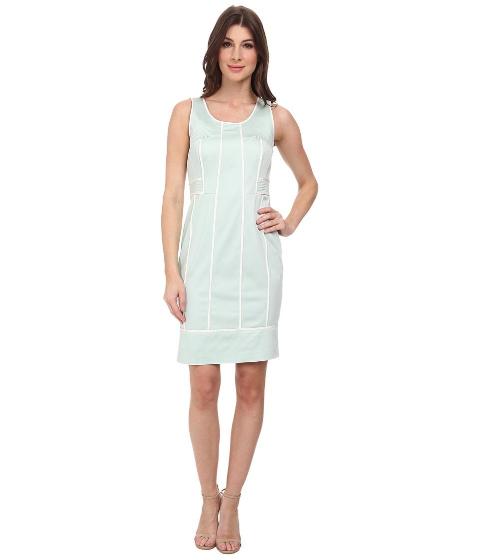 Calvin Klein - Brocade Scoop Neck Sheath Dress (Mint) Women's Dress