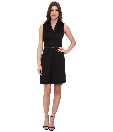 Calvin Klein - Sheath w/ Notch Collar (Black) Women