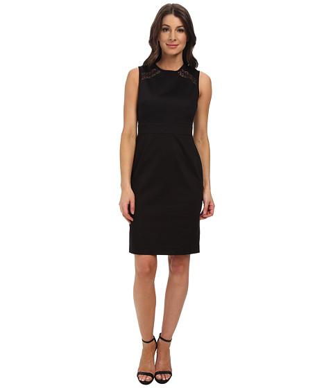 Calvin Klein - Sheath Dress w/ Novelty Inserts (Black) Women's Dress