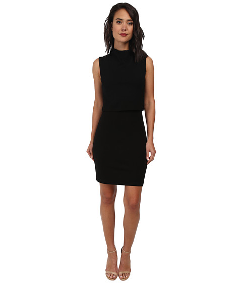 French Connection - Polka Plain Jersey Dress 71DEC (Black) Women's Dress