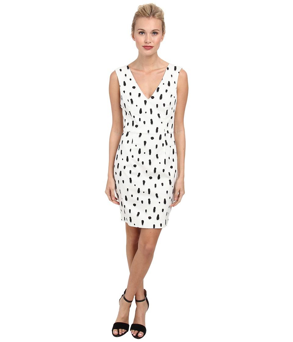 French Connection - Polka Spray Dress 71DJM (White/Black) Women