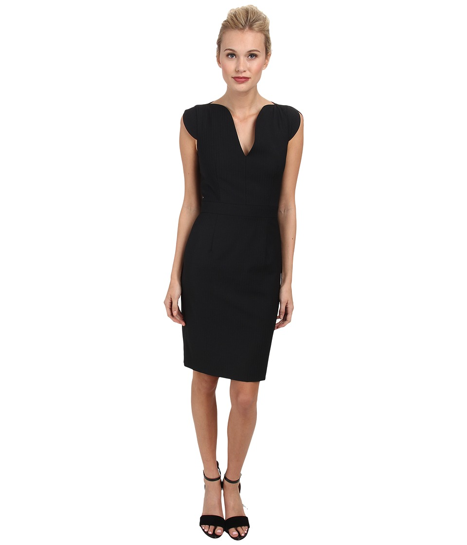 French Connection - Mimi Pinstripe Dress 71DFX (Black) Women's Dress