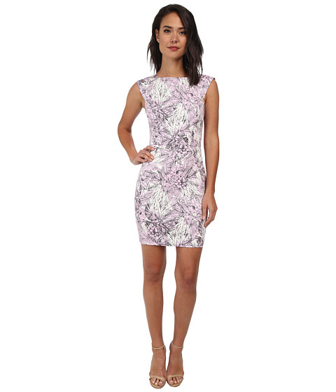 French Connection - Flight of Fancy Cotton Dress 71DHU (Violet Vice Multi) Women