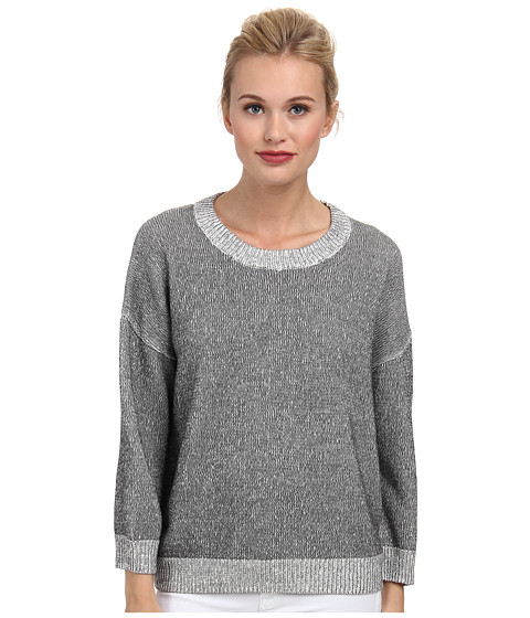 French Connection - Hollywood Knits Sweater 78DCQ (Black/Summer White) Women