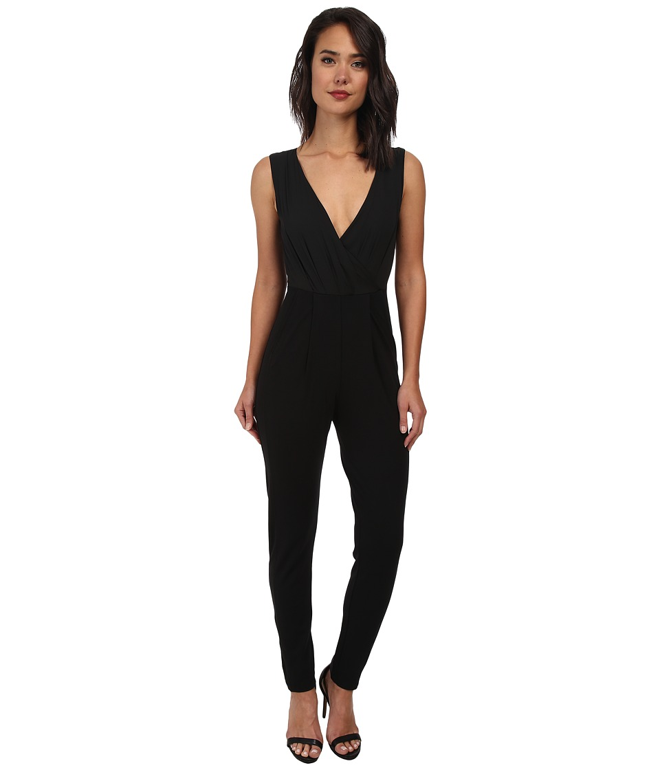 French Connection - Spring Wrap Jumpsuit 7GDAK (Black) Women's Jumpsuit & Rompers One Piece