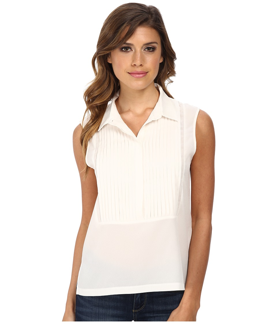 French Connection - Polly Plains Top 6DBI (Daisy White) Women's Clothing