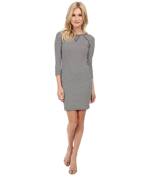 French Connection - Licorice Lines Dress 71DIK (Summer White/Black) Women's Dress