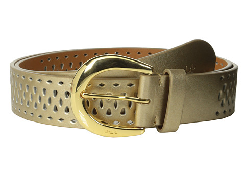 LAUREN by Ralph Lauren - Perforated 1 3/8 Belt (Champagne) Women's Belts
