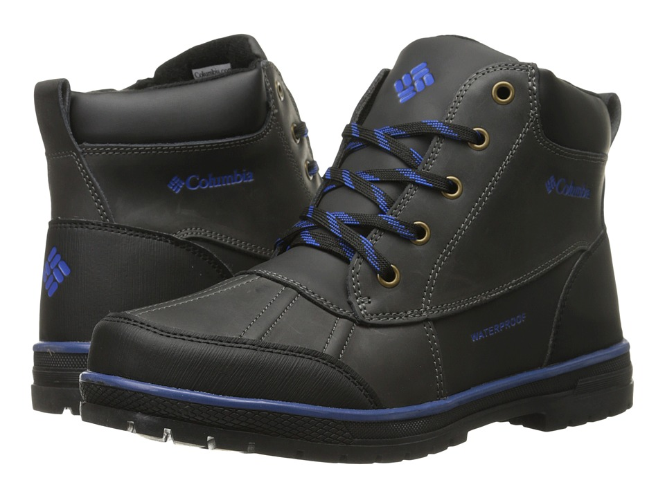Columbia Kids - Wrangle Peak Waterproof (Little Kid/Big Kid) (Black) Boys Shoes