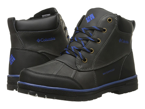 Columbia Kids - Wrangle Peak Waterproof (Little Kid/Big Kid) (Black) Boys Shoes
