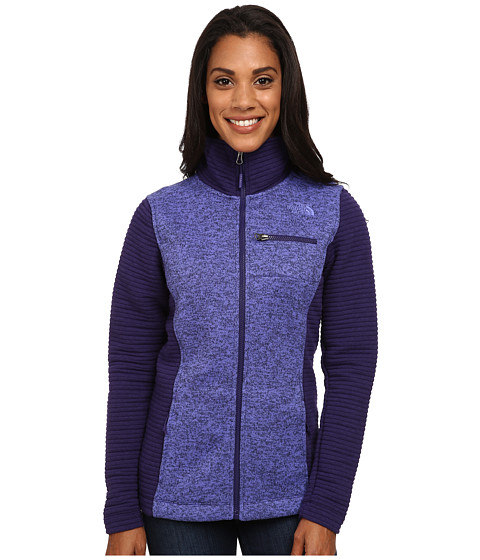 The North Face - Indi Insulated Full Zip Jacket (Garnet Purple Heather/Garnet Purple) Women's Coat