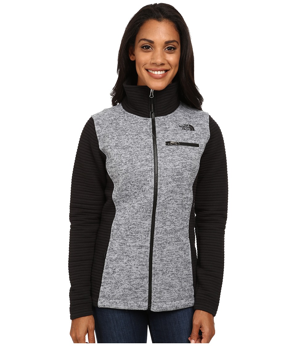 The North Face - Indi Insulated Full Zip Jacket (Mid Grey Heather/TNF Black) Women