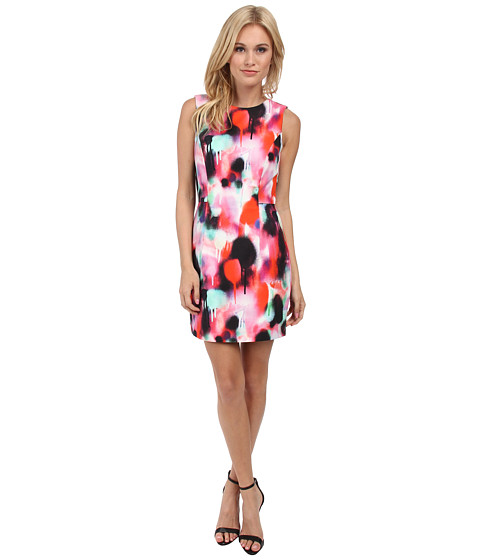 French Connection - Miami Graffiti Dress 71DBM (Keywest Coral Multi) Women