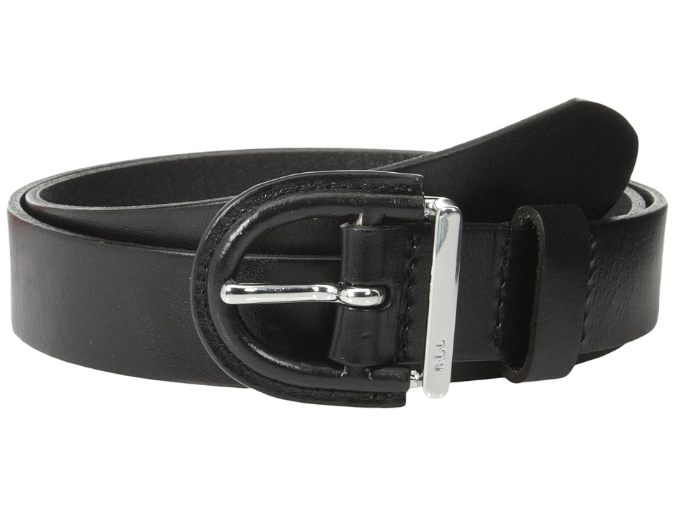 LAUREN Ralph Lauren - Classics 1 1/8 Covered LCB Belt (Black) Women's Belts