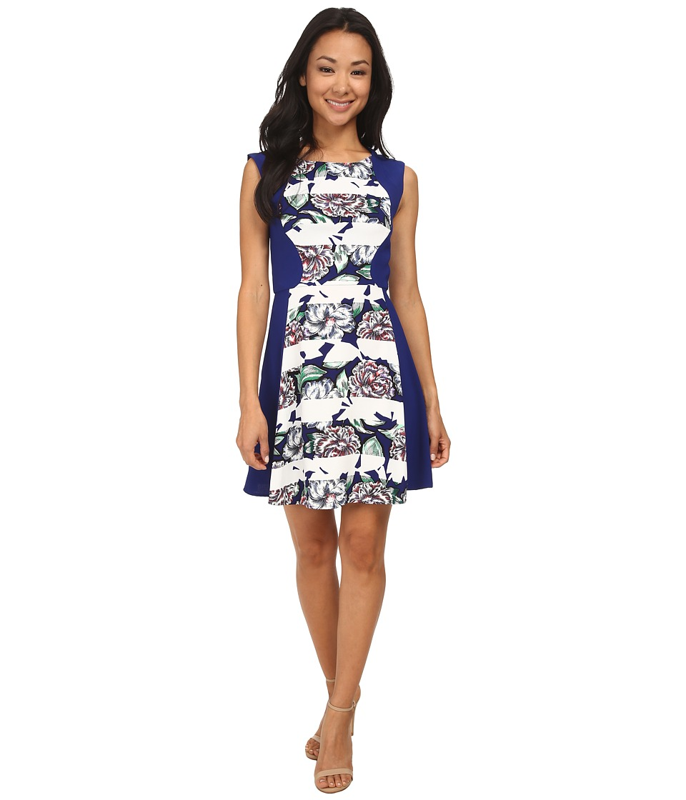 French Connection - Bonita Spring Stripe Dress 71DHV (Monarch Blue/Monarch Blue Multi) Women's Dress