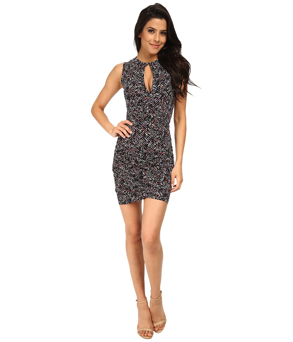French Connection - Confetti Grid Jersey Dress 71DHS (Black Multi) Women's Dress