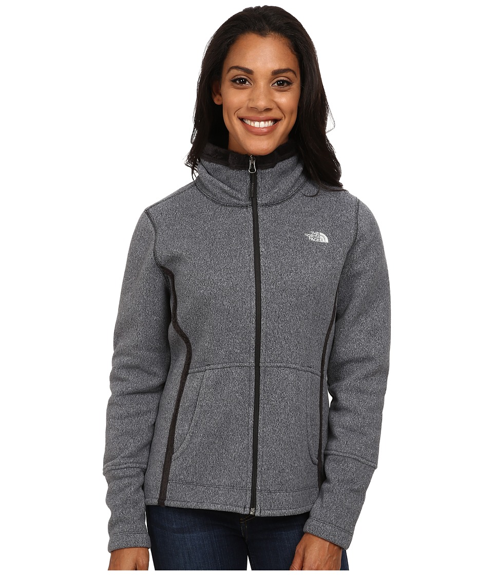The North Face - Banderitas Full Zip Jacket (TNF Black Heather) Women's Sweatshirt