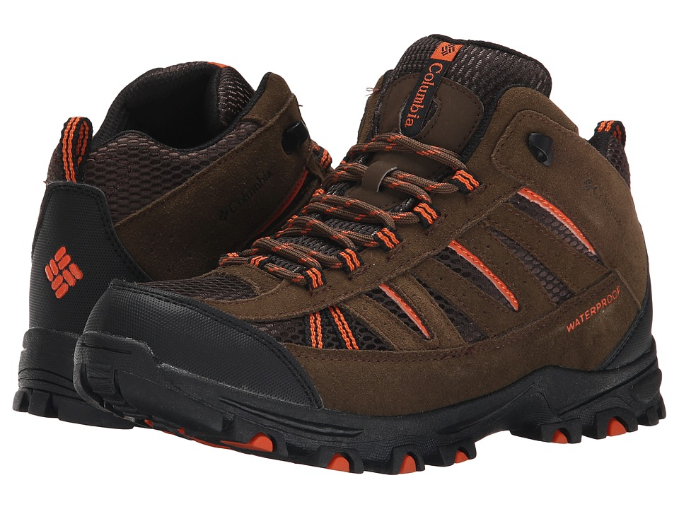Columbia Kids - Pisgah Peak Mid Waterproof (Toddler/Little Kid/Big Kid) (Mud) Kids Shoes