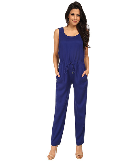 French Connection - Miami Drape Jumpsuit 7GDAJ (Monarch Blue) Women's Jumpsuit & Rompers One Piece