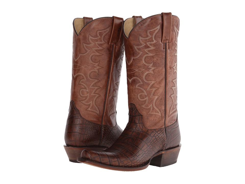 Roper - Croco Bandit (Brown) Cowboy Boots