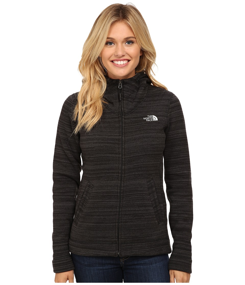 The North Face - Crescent Sunset Hoodie (TNF Black Stria Print) Women's Sweatshirt