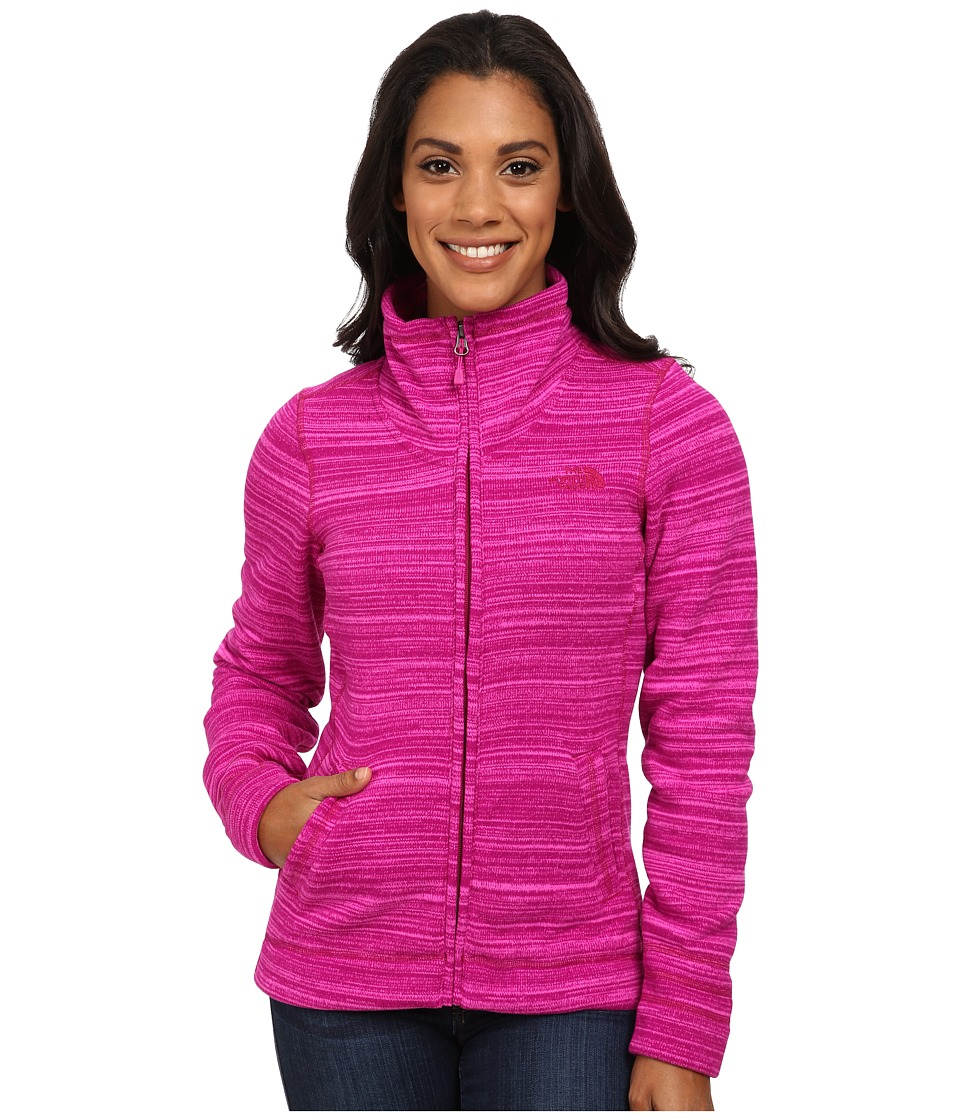 The North Face - Crescent Sunset Full Zip Jacket (Dramatic Plum Stria Print) Women's Jacket