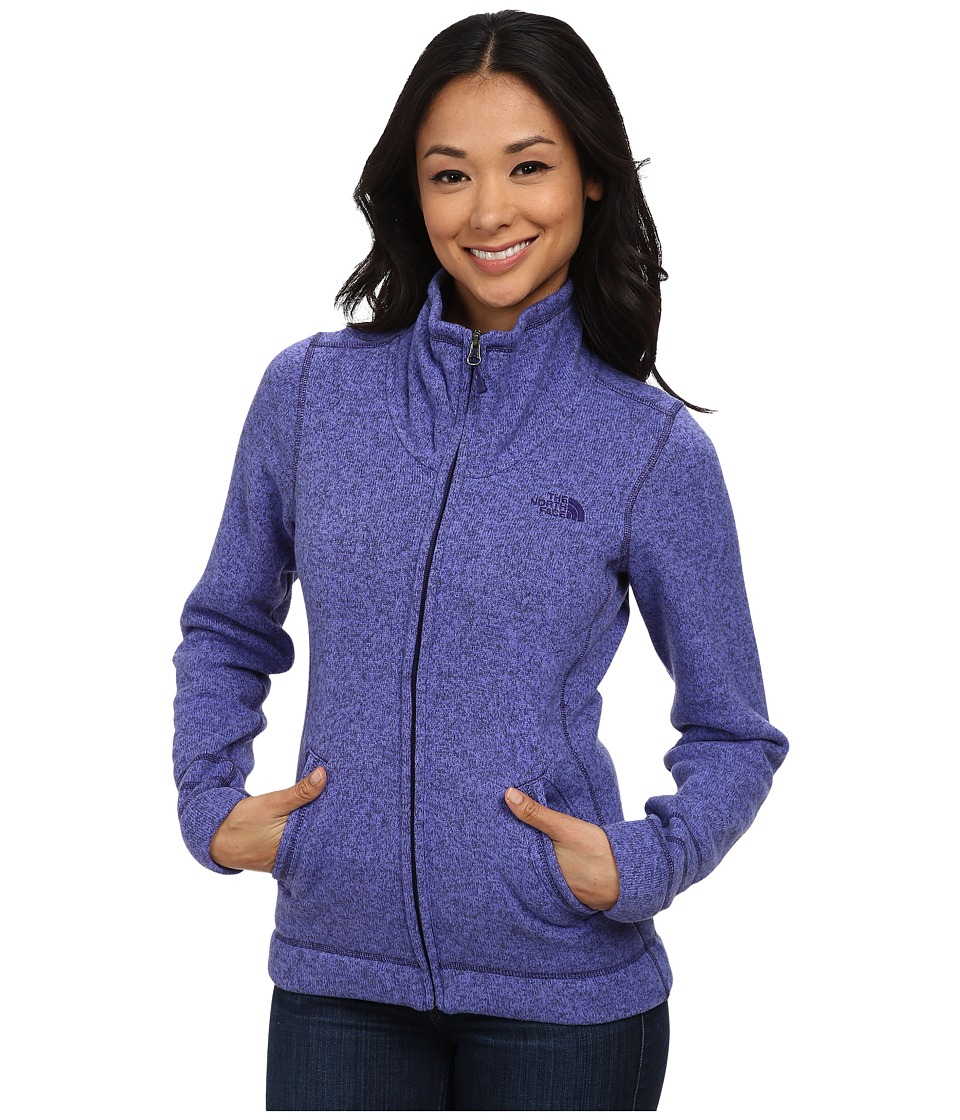 The North Face - Crescent Sunset Full Zip Jacket (Starry Purple Heather) Women's Jacket