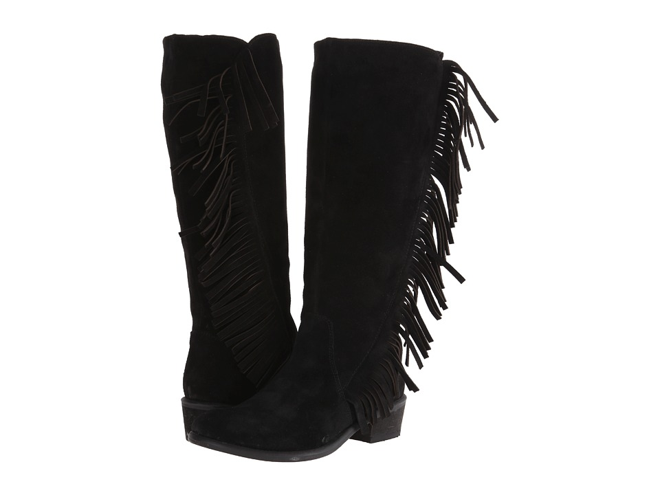 Roper On The Fringe (Black) Cowboy Boots