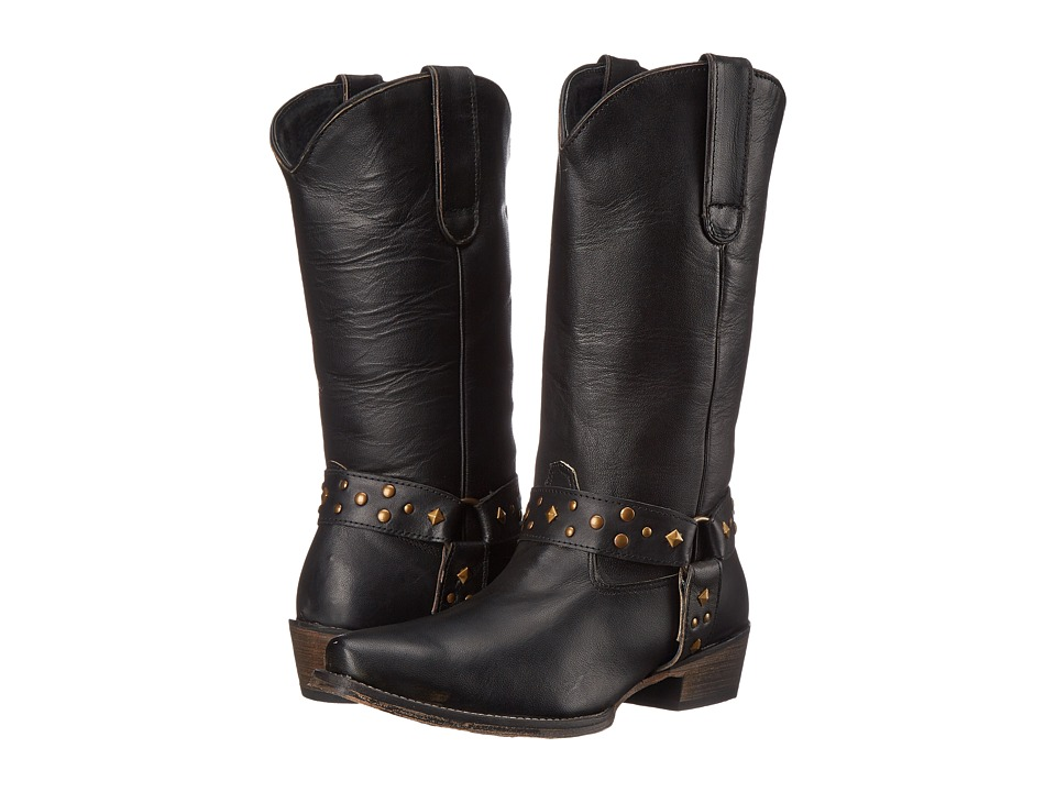 Roper Studded (Black) Cowboy Boots