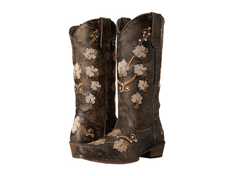 Roper - Flower Power (Brown) Cowboy Boots