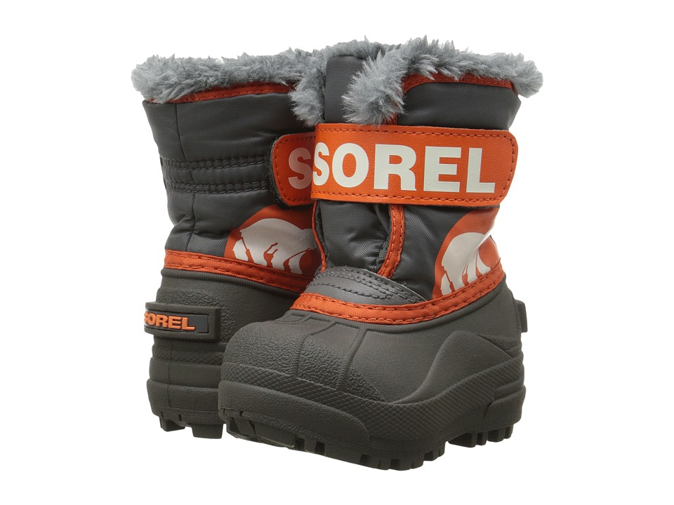 SOREL Kids - Snow Commander (Toddler) (Shale/Sea Salt) Boys Shoes