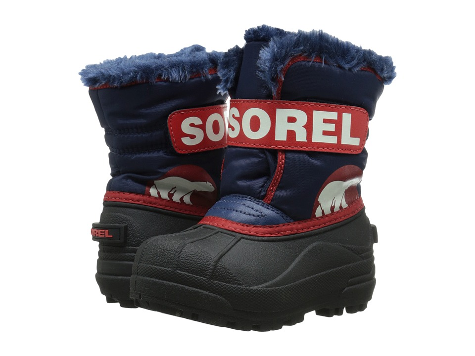 SOREL Kids - Snow Commander (Toddler) (Nocturnal/Sail Red) Boys Shoes