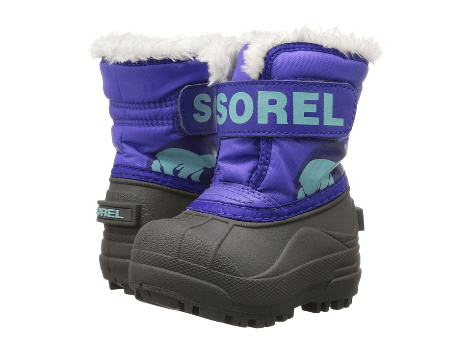 SOREL Kids - Snow Commander (Toddler) (Purple Lotus/Clear Blue) Girls Shoes