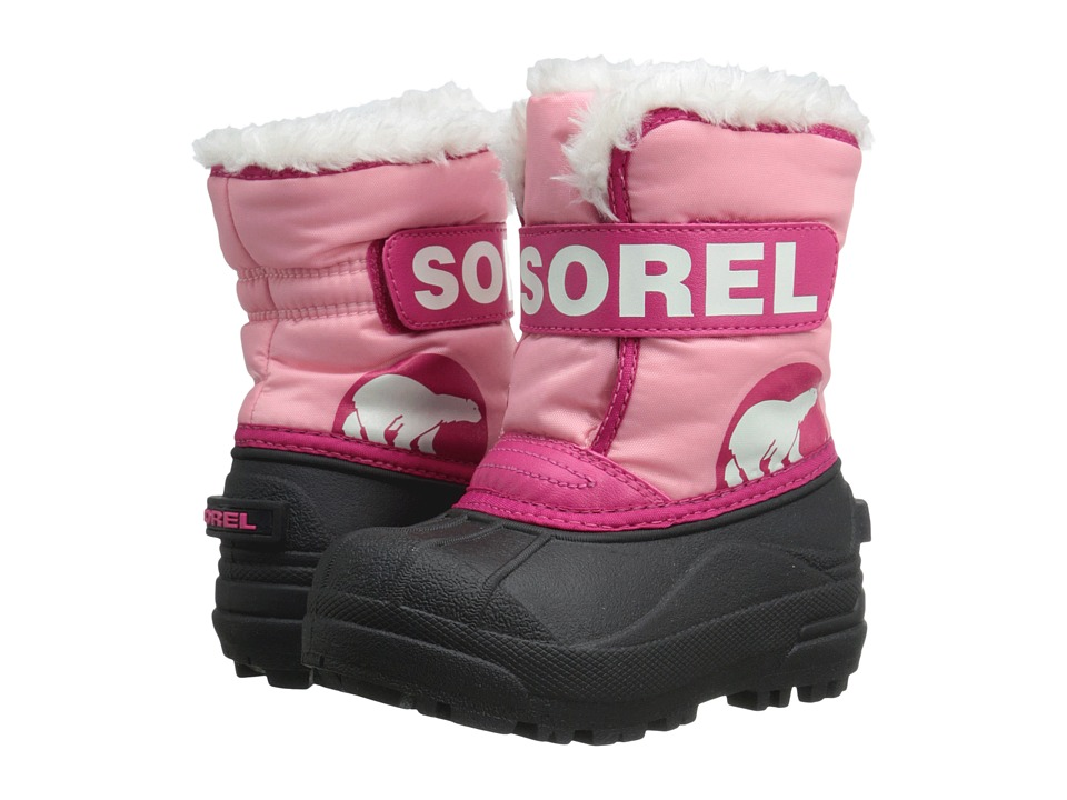 SOREL Kids - Snow Commander (Toddler/Little Kid) (Coral Pink/Bright Rose) Girls Shoes