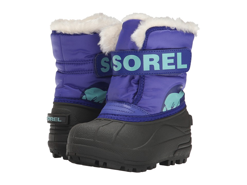 SOREL Kids - Snow Commander (Toddler/Little Kid) (Purple Lotus/Clear Blue) Girls Shoes