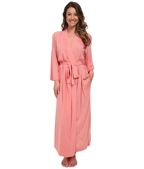 Natori - Shangri-La Robe (Heather Red Orange) Women