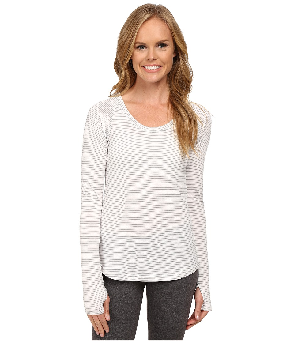 The North Face - Long Sleeve Zinnia Top (High Rise Grey/TNF White) Women's Long Sleeve Pullover