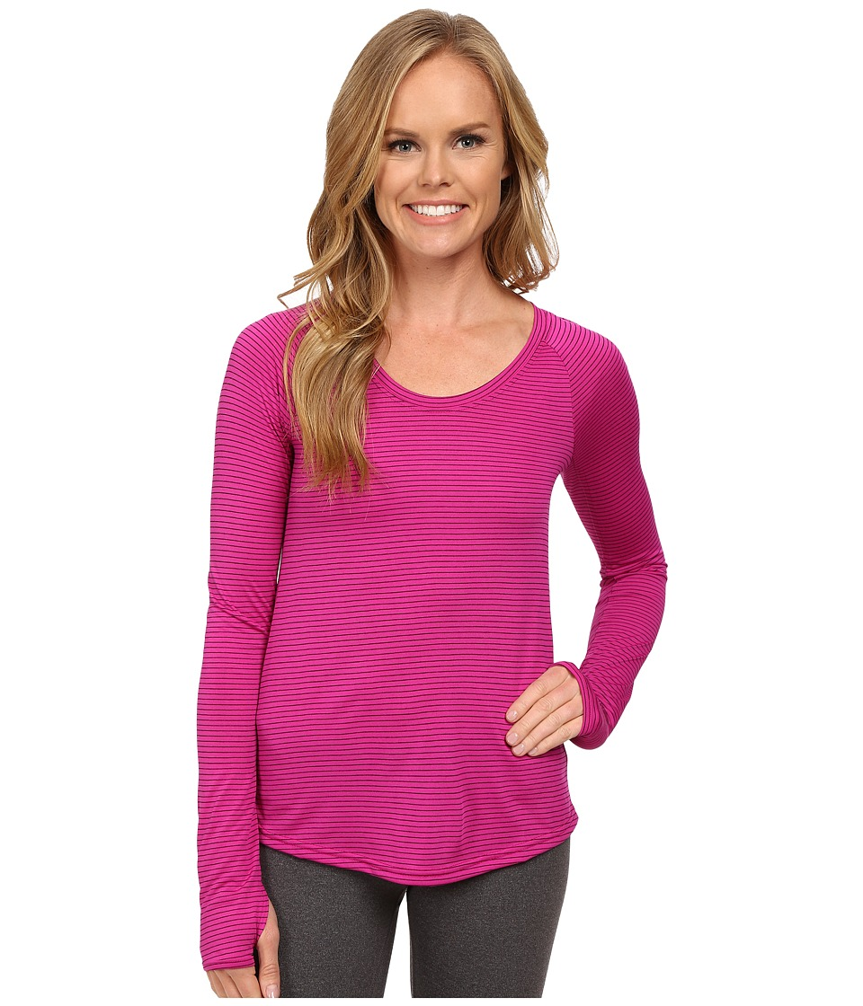 The North Face - Long Sleeve Zinnia Top (Dramatic Plum/Luminous Pink) Women's Long Sleeve Pullover