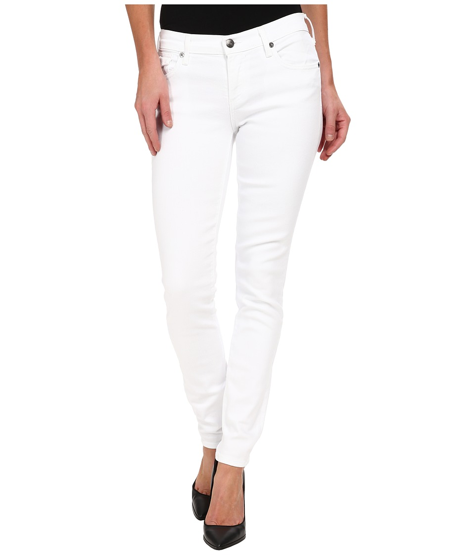 True Religion - Casey w/ Flaps Low Rise Skinny 30 in BTW First Snow Optic White (BTW First Snow Optic White) Women