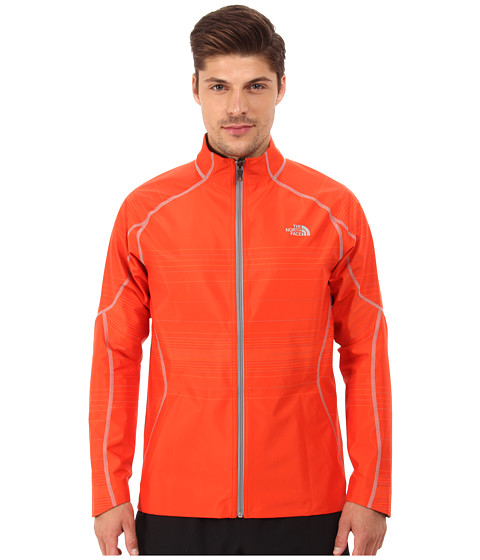 The North Face - Illuminated Reversible Jacket (Acrylic Orange Heather/Monument Grey Heather) Men's Coat