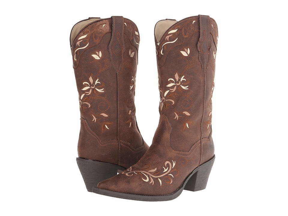 Roper - Floral Tone (Brown) Cowboy Boots