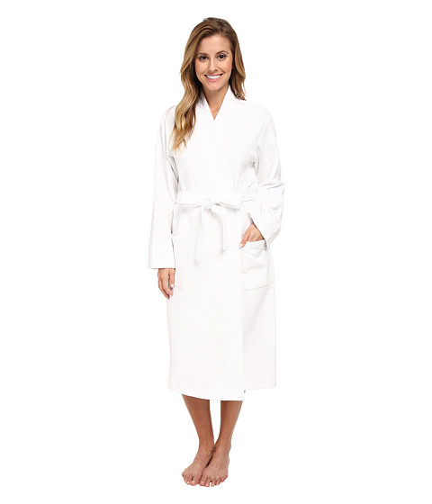 Natori - Quilted Cotton Wrap (White) Women's Robe