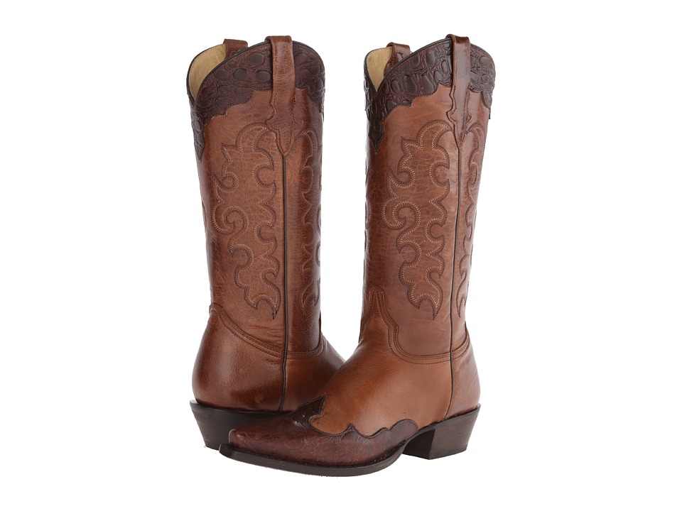 Roper Tall Over U (Brown) Cowboy Boots