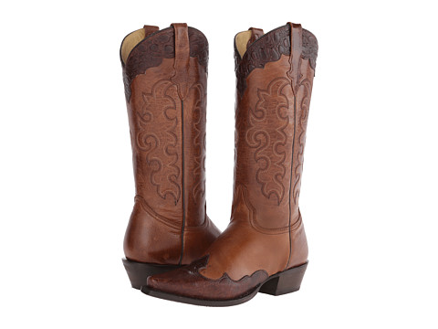 Roper - Tall Over U (Brown) Cowboy Boots