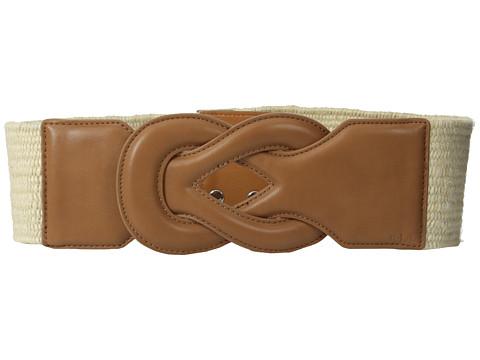 LAUREN by Ralph Lauren - Stretch 2 3/4 Jute Belt (Natural/Cuoio) Women's Belts