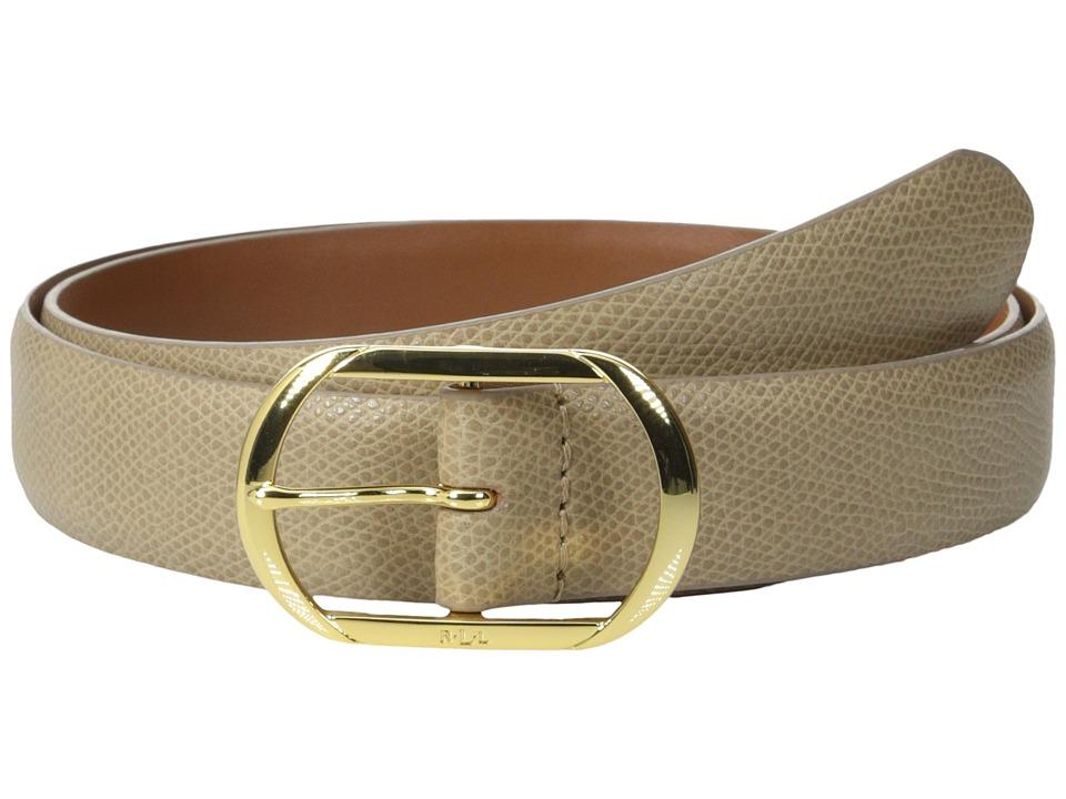 LAUREN Ralph Lauren - Whitby 1 1/8 Centerbar Belt (Stone) Women's Belts